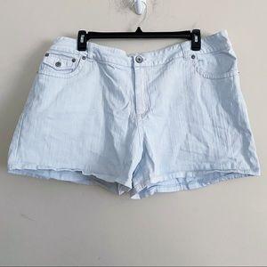 LA BLUES denim jean shorts button back pockets 26W